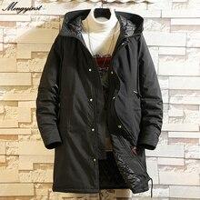 Trench Coat For Men 2020 Winter Male Fashion Turn-down Collar Zipper Thicken Warm Long Windbreaker Jacket Casual Overcoat 6XL