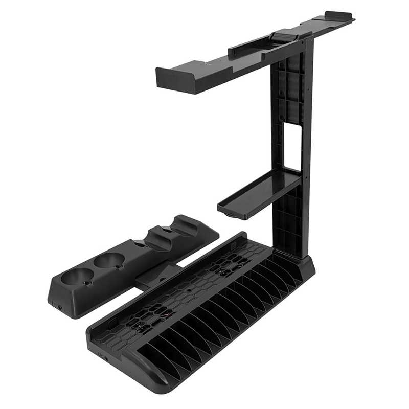 4 in 1 Controller Charging Dock Station Stand for Playstation PS4/Slim/Pro/PS VR Move Quad Charger for PlayStation MOVE Controll
