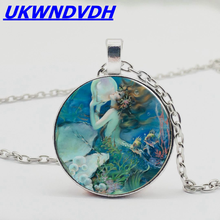 Mermaid Kiss Pearl Pendant Necklace Fashion New Sweater