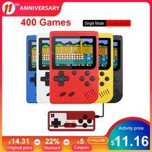 Retro przenośna Mini przenośna konsola do gier 1020mAh bateria 3.0 Cal kolorowy wyświetlacz lcd kolorowy odtwarzacz gier dla dzieci wbudowany w 400 gier