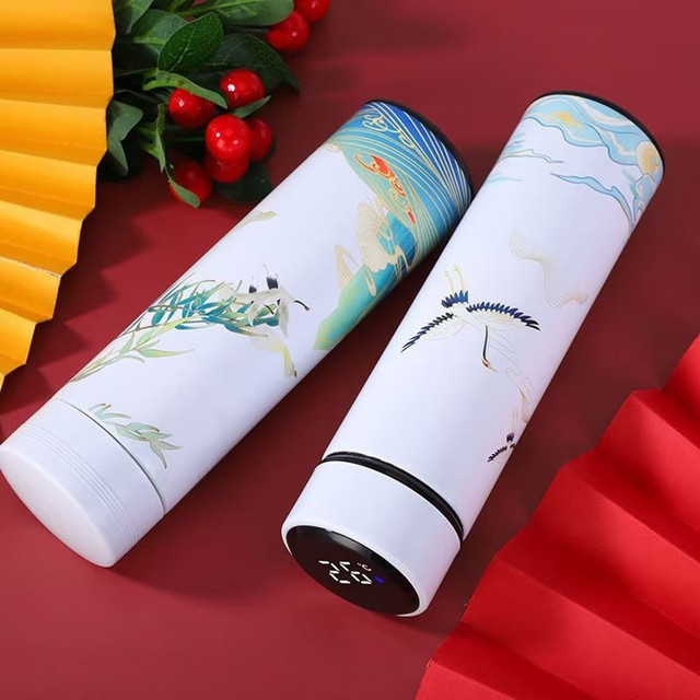 #40 Smart Water Bottle Stainless Steel Vacuum Flask Lcd Screen Temperature Display Travel Mug Thermo Bottle Gifts Thermo Cup 6