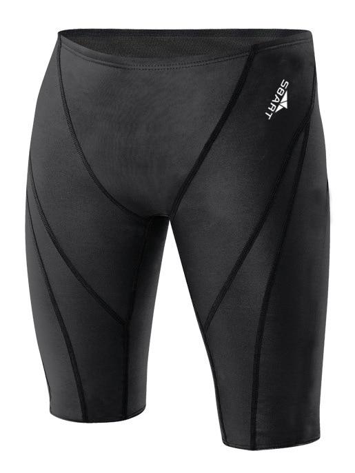 Men Long-Style Low-Waist Swim Trunks Adult Profession Bathing Suit Short Boxer Swimming Trunks 303