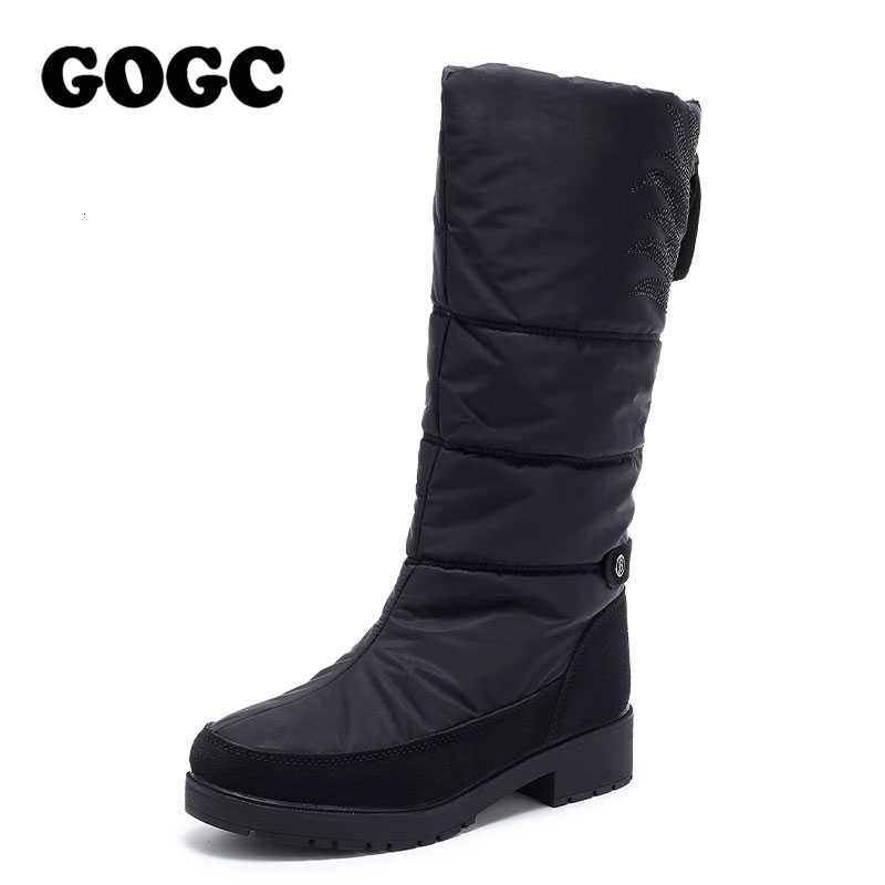 GOGC çizmeler kadın orta buzağı botları kışlık botlar kadın kar botları ayakkabı kadın ayakkabı kış kış botları kadın su geçirmez g9939