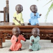 Мини-фигурка монаха для йоги, декоративная керамическая статуэтка, мандала, мандала, Маленький Будда, домашний деко