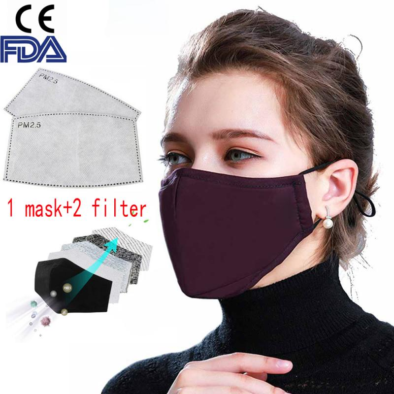 Anti-fog Mask PM2.5 Ffp3 Anti-Dust Washable Anti Haze KN95 Mask With Filter Pad Activated Carbon Filter Respirator Mouth-muffle