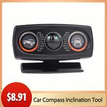 Akcesoria do wnętrza samochodu kompas samochodowy dekoracja inklinometr kompas dekoracja nachylenie narzędzie poziom fali Instrument tanie tanio CN (pochodzenie) Analogowe Samochód