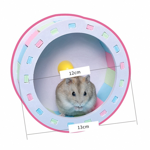 Pet Sports Fitness Hamster Running Wheel Hamster Jogging Wheel DIY Mute Color Funny Running PVC Disc Toy Hamster Pet Products 4