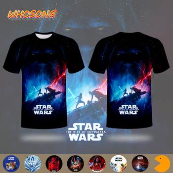 2019 Super popular science fiction Hot sale Men T shirt WHOSONG Star Wars 9 3D T-shirt Cool modern Boys clothes Tops Tees