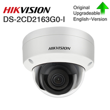 המקורי Hikvision IP מצלמה HD 6MP CCTV כיפת קבוע DS 2CD2163G0 I רשת Camara H.265 IP67 אבטחה חיצוני אודיו PoE