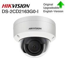 هيكفيجن الأصلي IP كاميرا HD 6MP CCTV قبة DS 2CD2163G0 I ثابت شبكة كامارا H.265 IP67 الأمن في الهواء الطلق الصوت PoE