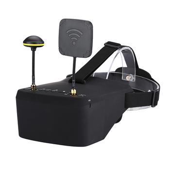 LS-800D 5 8G gogle FPV 40CH odbiornik 5 Cal 854*480 Monitor wideo zestaw słuchawkowy w DVR automatyczne wyszukiwanie 2000mAh bateria do RC drone tanie i dobre opinie SKYRC CN (pochodzenie) 390g 180x145x82mm WALKERA(dianzi)
