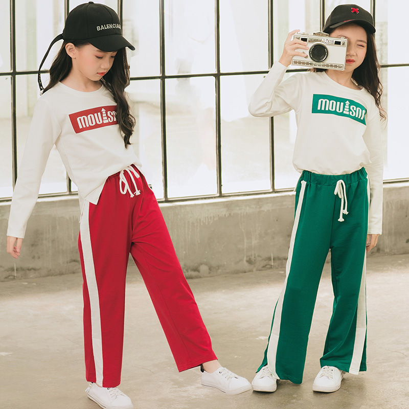 Girls Sportswear Sports T Shirt Running Pants For Kids Sports Set Fitness Tops Gym Wear 2pcs Sport Wear For Girls Leggings