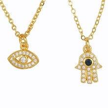 Fatma-collar pequeño de plata de primera ley con forma de ojo para mujer, Gargantilla, plata esterlina 24K, Circonia cúbica, Zirconia, circonita, zirconita, turco, ojo malvado