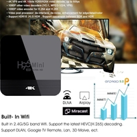 android 4 2 RK3228A H96 MINI H8 smart tv set top box H.265 Android 9.0 2.4G/5G WiFi Bluetooth 4.0 Youtube Google Player H96 max smart tv box (2)