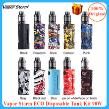 E Cigarette Vapor Storm ECO Vape kit Max 90W & 3.5ml Disposable vape atomizer 510 thread Electronic starter Kit