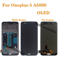 New oled Display for Oneplus 5 A5000 AMOLED LCD display touch screen digitizer Assembly for Oneplus Five Oneplus5 dislpay(China)