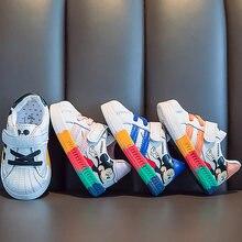 Printemps automne garçons filles enfants chaussures plates nouveaux enfants chaussures filles baskets respirant enfants dessin animé chaussures pour garçons chaussures étudiant