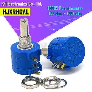 5PCS 3590S series resistance 1K 2K 5K 10K 20K 50K 100K ohm Potentiometer Adjustable Resistor 3590 102 202 502 103 3590S-2