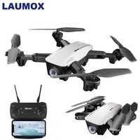 Drone LAUMOX LX100 RC avec caméra HD 4 K/1080 P positionnement de flux optique Drone d'hélicoptère pliable WIFI FPV quadrirotor suivez-moi