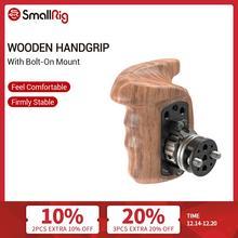 Smallrig Houten Handvat Grip Rechts Quick Release Handvat Met Arri Rozet Bolt On Mount Voor Universele Camera Hand grip 2083