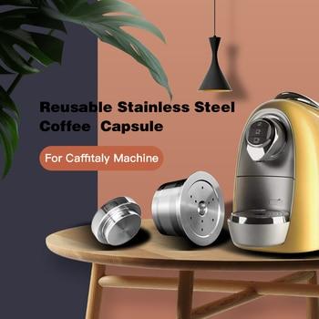 Cápsulas de café rellenables de acero inoxidable, para Caffitaly Tchibo Cafissimo ALDI...