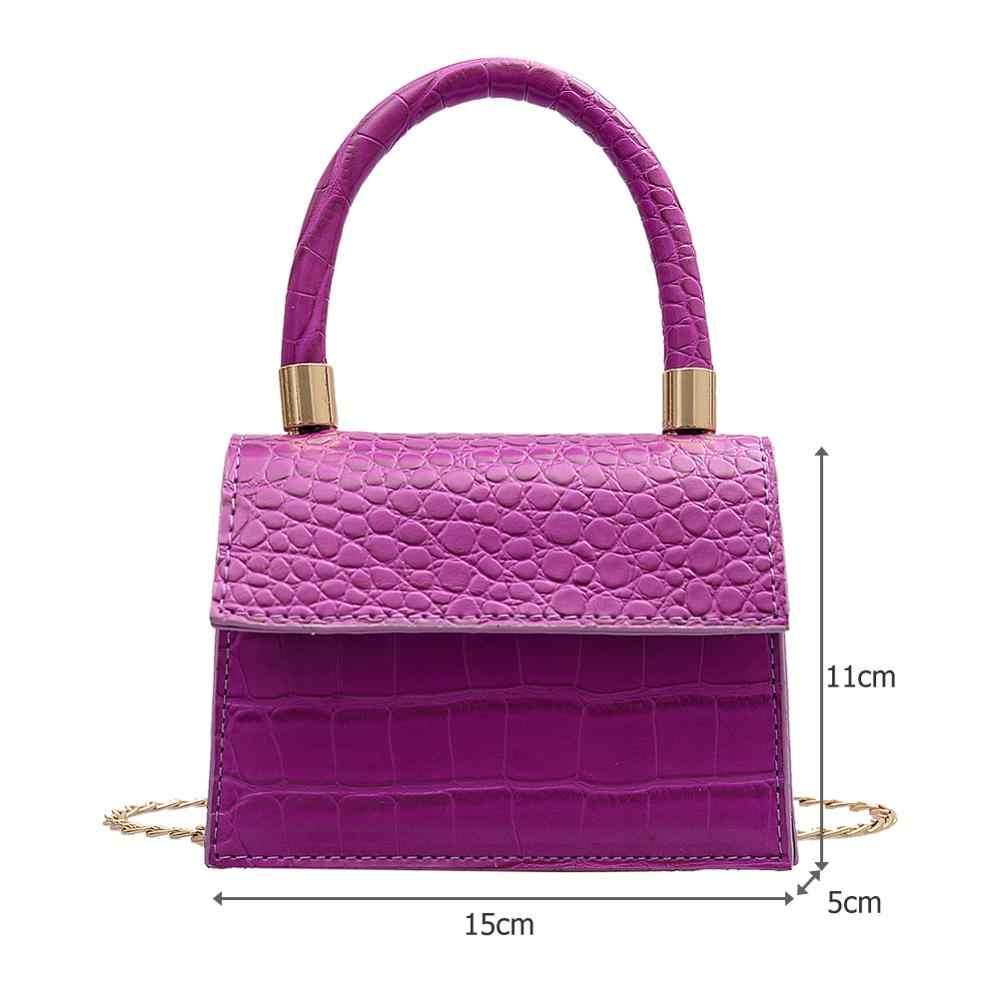 Mini Kleine Quadratische tasche 2020 Neue Mode Qualität PU Leder frauen Handtasche Alligator Leder Kette Schulter Messenger Taschen totes
