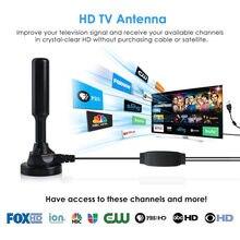 O envio gratuito de atualização 300 milhas alcance antena tv digital hd skywire 4k digital interior hdtv 1080 transceptor tv via satélite