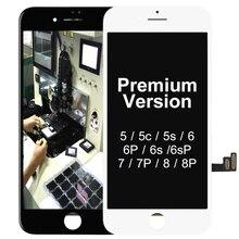 プレミアムバージョン天馬iphone 5s、se 6 6sプラス 7 8 プラス液晶タッチディスプレイスクリーンガラスパネルアセンブリ無料ギフトデッドピクセル