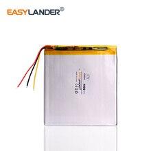 3 провода аккумулятор для планшета 3,7 V 4000mAH 408686 полимерный литий-ионный/литий-ионный аккумулятор для планшетных ПК