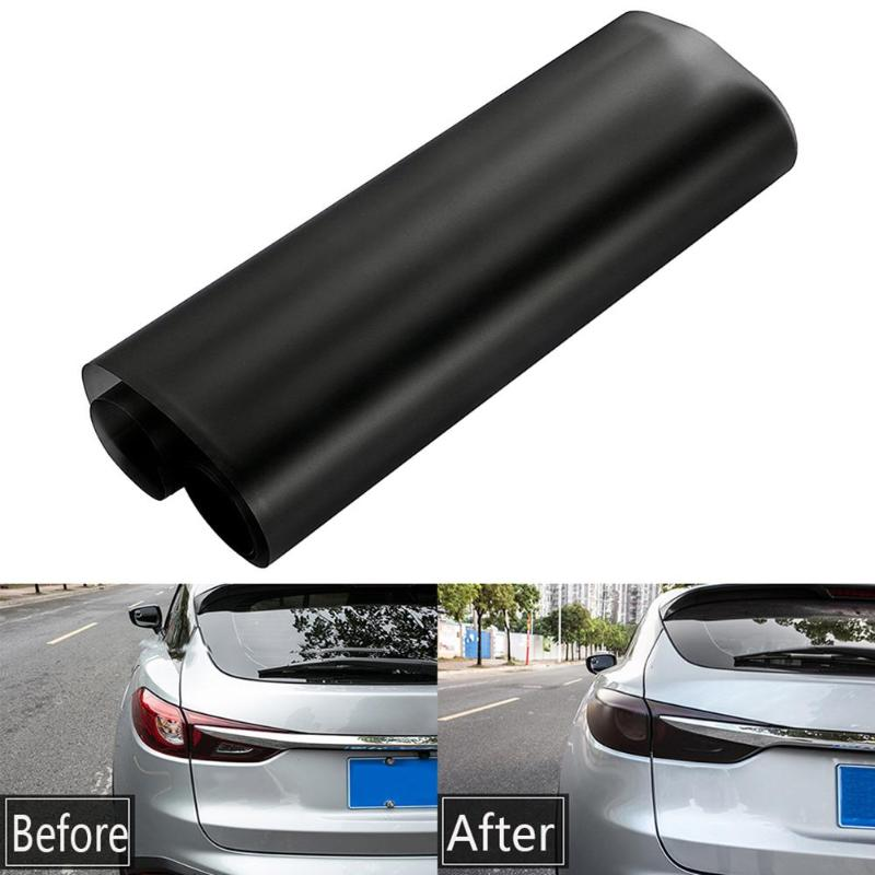 30x100 Matt Black Auto Car Fog Light Rear Lamp PVC Film Removable UV-Resistant Headlight Taillight Tint Vinyl Film Sticker Sheet