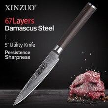 XINZUO-cuchillo de cocina japonés de acero inoxidable forjado, 5 pulgadas, VG10, cuchillos de Chef de cocina japonesa, cuchillo de cocina Accesorios