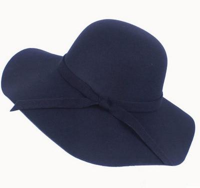 Felt Sun Hat Women Vintage Wide Brim Sunbonnet Lady Beach Sunhat UV Protection Caps,3,U