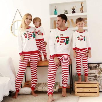 2020 new Family Christmas Pajamas Long Sleeve Cotton Father Mother Daughter Son baby Matching Outfits Christmas Pyjamas family