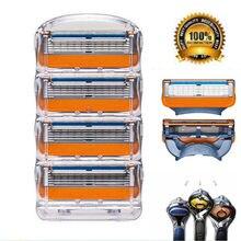 5-Layer-Blades Cassette Face-Care Shaving Fusion-Power Compatible for Men Cassette/Compatible/Gillette/Fusion-power