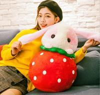 Cute Plush Toy Cartoon Rabbit Strawberry Pineapple Watermelon 50cm Soft Stuffed Toys Cushion Birthday Christmas Gift #1978
