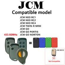 Jcm neo/jcm TWIN-R mini porta da garagem controle remoto 433.92mhz abridor de garagem comando 433mhz porta controle remoto replicador
