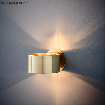 Simple Modern LED Wall Light Nordic Design Loft Decor Sconce Wall Lights Iron Gold Bedside Wall Lamp Home Lighting Luminaire