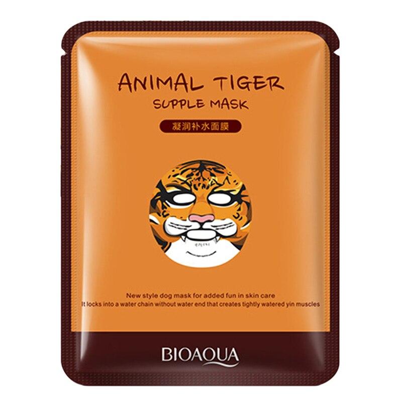 Косметика для лица макияж маска для ухода за кожей лица животное мягкий в виде тигра панда узор увлажняющий питательный тройной контроль