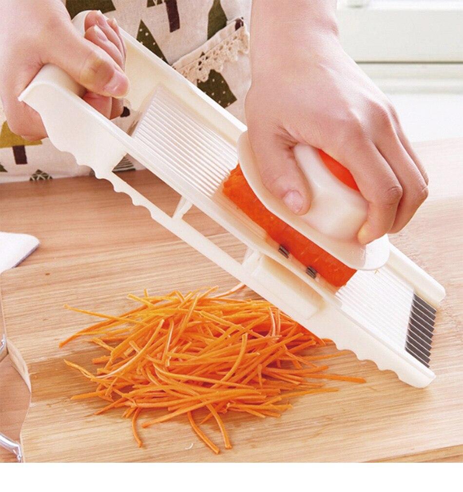 Многофункциональная овощная терка из нержавеющей стали, нарезка овощей, регулируемая терка для моркови