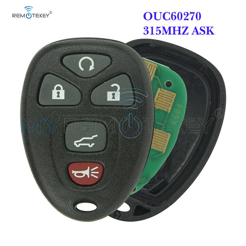 Remtekey OUC60270 Remote Fob 5 Button 315Mhz Voor Gmc Acadia Yukon 2007 2008 2009 2010 2011 2012 2013 2014