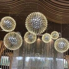 DX Lustre Moderne Pour Restaurant Hall LED Lustre Éclairage Pour Salon, Boule UFO Modèle 110v,220v Feu D'artifice Hanglamp