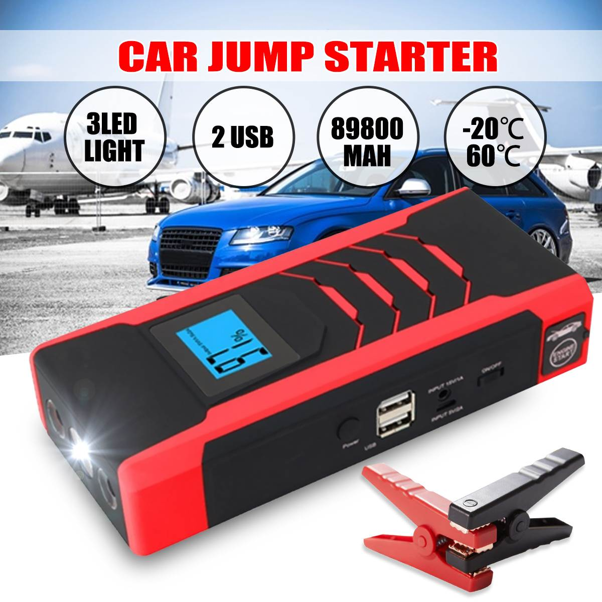12V 800A Emergency Car Jump Starter Power Bank Portable Starting Device Booster High Power Car Starter For Car Battery Charger