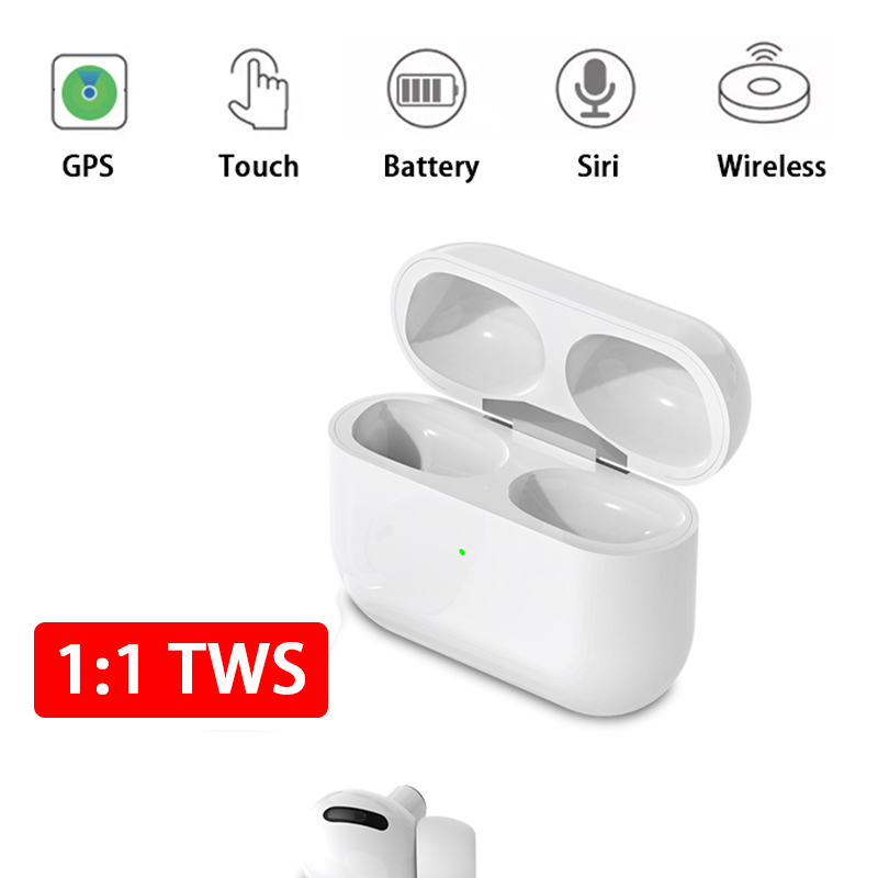 Qi Wireless Charging Earphone i1000000 TWS Bluetooth 5.0 Headset <font><b>Pop</b></font> <font><b>Up</b></font> Touch Transparency Earbuds Noise Reduce <font><b>airpoding</b></font> image