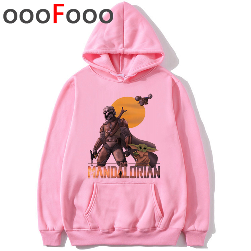 The Mandalorian Star Wars Movie Fashion Hoodies Men The Child Baby Yoda Funny Cartoon Sweatshirt Kawaii Hip Hop Print Hoody Male