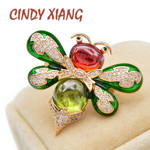 Bee-Brooches Cindy Xiang Small Cute Women Honeybee Crystal Cubic-Zirconia Insect
