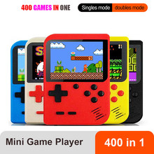 Portátil mini retro game console handheld jogador 3.0 Polegada 400 jogos em 1 bolso game console