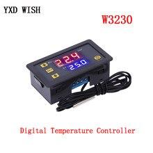 W3230 controlador de temperatura digital dc12v 24v AC110V-220V 20a display led termostato com aquecimento/instrumento controle refrigeração