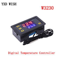 W3230 Digital Temperature Controller DC12V 24V AC110V-220V 20A LED Display Thermostat With Heating/Cooling Control Instrument