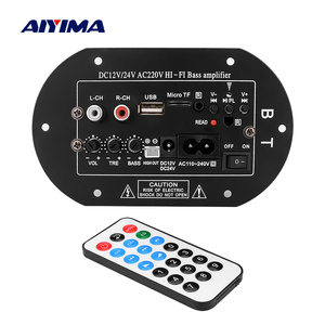 Image 1 - AIYIMA 100W Bluetooth Audio Amplifier Board Car Subwoofer Amplifier Home Theater Sound System 12V 24V 220V For 5 10Inch Speaker