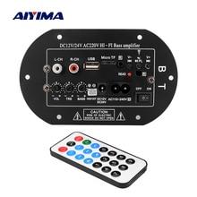 AIYIMA Placa de amplificador de Audio para coche, amplificador de Subwoofer para cine en casa, sistema de sonido 12V 24V 100 V para altavoz de 5 10 pulgadas, Bluetooth 220 W